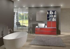 Torana TR 009, Muebles de baño con lavabo y una biblioteca