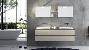 Torana TR 001, Muebles con 2 lavabos, con la parte superior tramo