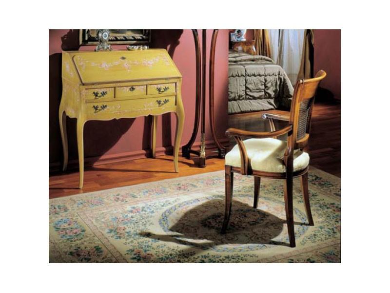 3255 DROP-FRONT DESK, Escritorio de madera decorado a mano, clásico de lujo