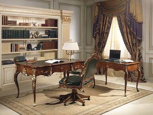 Art. 2008/16, Escritorio con stylne Luis XV, antigüedades nuez, de alta calidad