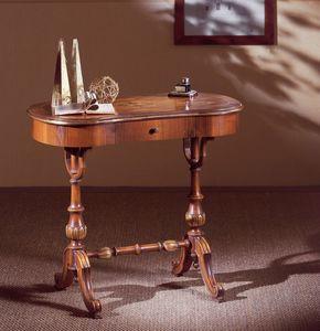 Art. 213, Mesa de escritorio en madera tallada a mano, con cajón, de estilo clásico