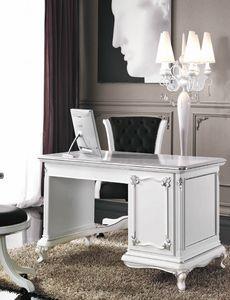 Art. 3244, Elegante escritorio lacado en blanco