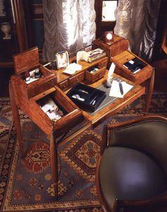 Art Déco Art.541 escritorio, Escritorio de madera de nogal con acabado satinado
