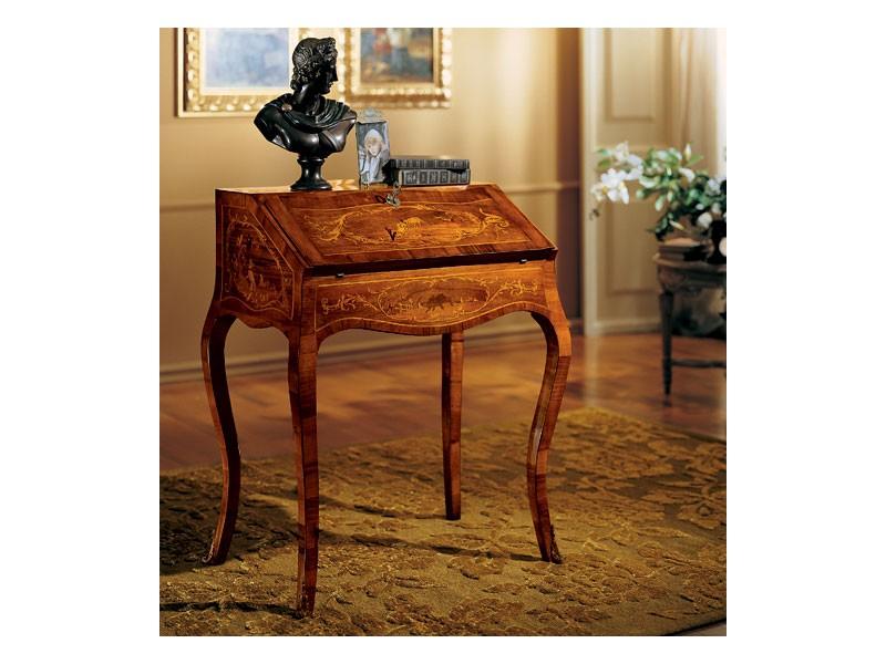 Mesa de escritorio de madera con capota plegable, de estilo clásico ...