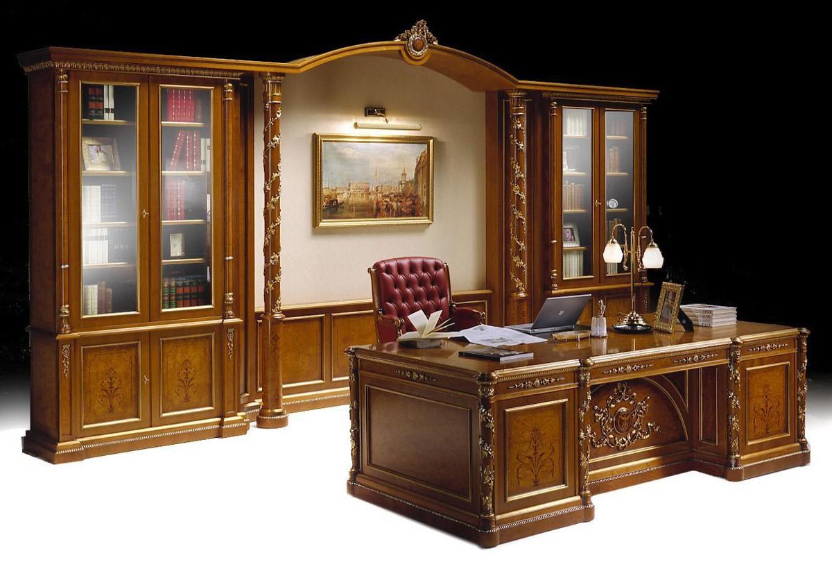Muebles de oficina cl sico de lujo biblioteca y un for Muebles escritorios clasicos