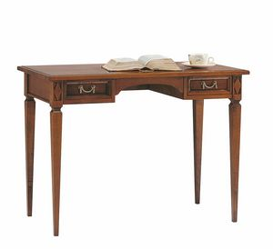 Villa Borghese escritorio 6376, Escritorio de madera con cajones, estilo directoire.