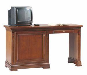 Villa Borghese escritorio y minibar izquierda, Escritorio para habitaciones de hotel, con armario de minibar