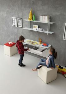 a106 daisy escritorio, Escritorio moderno para habitaciones de ni�os, con mecanismo de extensi�n