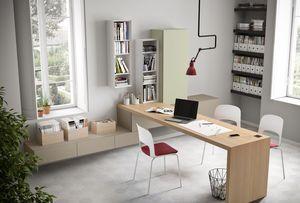 Domino escritorio, Eooden escritorio, con un ancho de tamaño personalizado