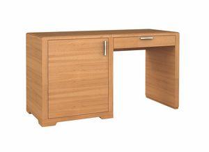 Eleganza escritorio / unidad de minibar, izquierda, Escritorio para el hotel, con la unidad del refrigerador-barra