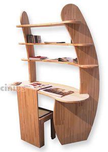 Escritorio Avvolgente, Escritorio de madera con estantes