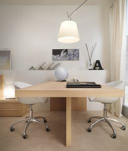 Linear desk 04, Elegante escritorio doble