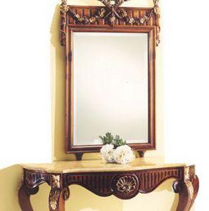 2935 espejo, Espejo con marco de madera tallada