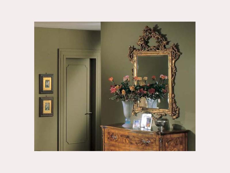 3265 MIRROR, Espejo rectangular clásica, talladas a mano