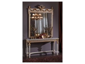 3425 MIRROR, Espejo rectangular clásico, estilo Luis XVI