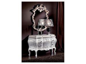 3445 MIRROR, Tallada a mano espejo, clásico, acabado lacado