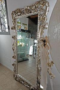 Loto gran, Espejo rectangular con acabado pan de oro