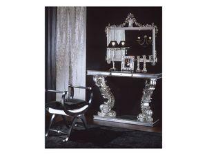 703 MIRROR, Espejo clásico con acabado en plata, para uso residencial