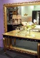 Art. 1799 Audrey, Gran espejo clásico, cuadrado, de madera, de vestíbulo