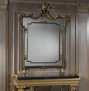 Art. 2095 espejo, Espejo rectangular con marco tallado