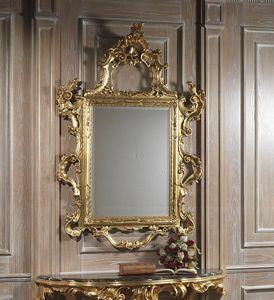 Art. 660 espejo, Majestuoso espejo tallado, acabado dorado