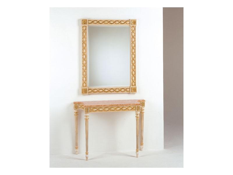 Art. 710/S, Espejo de estilo, estilo Luis XVI, pan de oro acabado