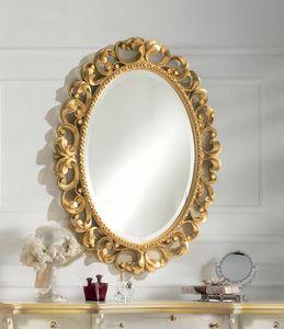 Art. 804, Espejo ovalado en acabado dorado
