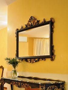 Article 811-SH Clara, Espejo en madera de haya, acabado en pan de oro envejecido