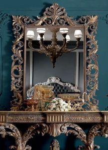 Barocchetto Art. SPE06, Espejo de estilo barroco con tallas.