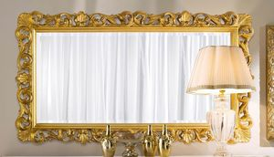 Chippendale espejo rectangular dorado, Espejo dorado, estilo clásico