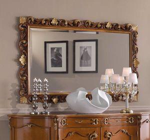 Chippendale espejo rectangular, Espejo clásico, marco tallado