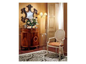 Complements mirror 862, Espejo de pared con marco en madera decorada
