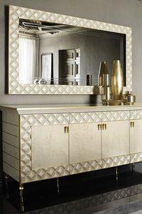 SIPARIO Espejo, Espejo de estilo clásico con marco acolchado