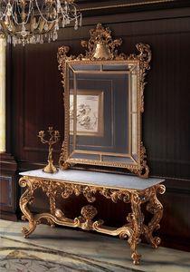 F463, Espejo dorado y la consola, para Salones clásicos