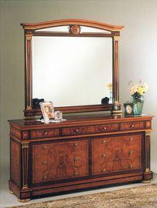 IMPERO / Big mirror, Espejo de dormitorio, con marco de madera