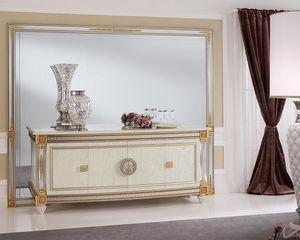 Liberty espejo, Espejo con generosas dimensiones, elegante como refinados, con marco de madera tallada