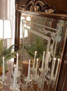 Luigi XVI Art. SPE03/LU/120, Espejo decorado a mano con relieve dorado
