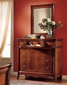 Opera espejo, Elegante espejo con marco de madera de nogal, para Restaurant