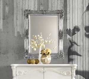 Puccini Art. 7620, Espejo de pared con marco de hoja de plata