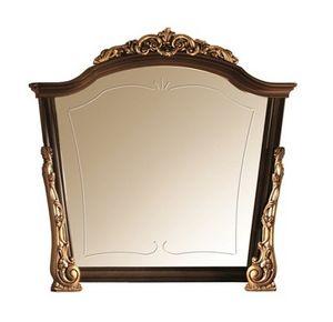 Sinfonia espejo, Espejo en madera con adornos de oro, hecho a mano