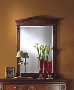 Voltaire espejo, Espejo de estilo en madera con cristal biselado