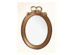 Wall Mirror art. 103, Espejo con marco de madera, estilo Luis XVI