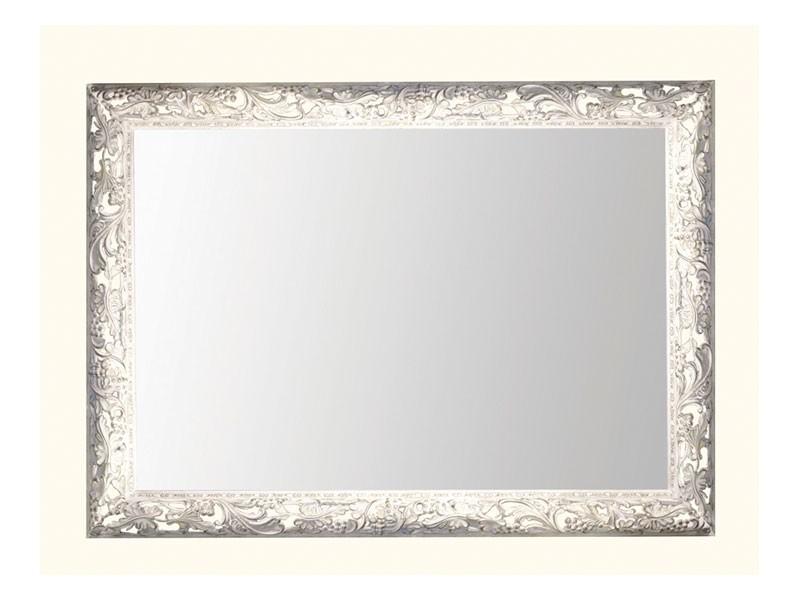 Wall Mirror art. 104, Espejo con marco de madera decorado con hojas de parra