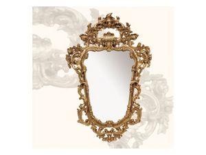 Wall Mirror art. 113, Espejo con marco de madera, de estilo rococó