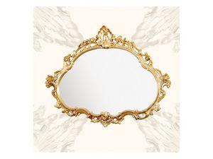 Wall Mirror art. 120, Espejo con marco de madera, de estilo barroco tardío