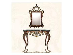 Wall Mirror art. 122, Espejo rectangular con marco, estilo Luis XV