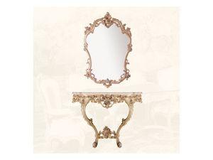 Wall Mirror art. 127, Espejo de estilo Louis XV, para las entradas y salas de estar