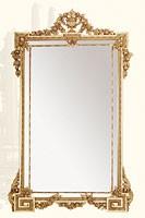 Wall Mirror art. 135, Espejo rectangular con marco hecho de madera de tilo