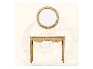 Wall Mirror art. 136, Espejo redondo con marco, estilo Luis XVI