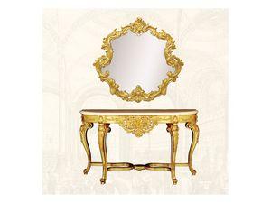 Wall Mirror art. 151, Espejo con marco decorado, forma sinuosa